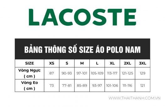 Áo Polo Nam Lacoste Petit Piqué Slim Fit Blue Chine