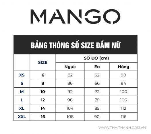 Đầm Nữ Mango Contrast Seam Dress Black