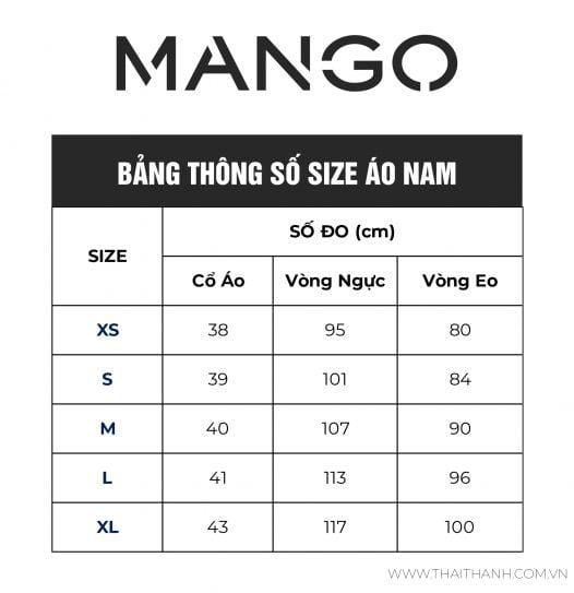 Áo Sơ Mi Nam Mango Slim Fit Micro Houndstooth Shirt Dark Navy
