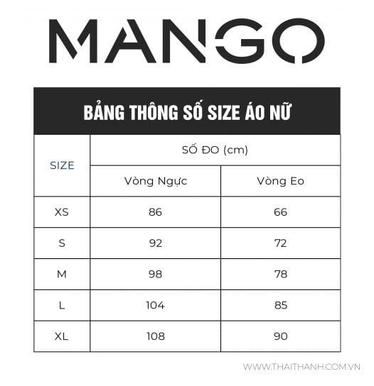 Áo Thun Nữ Mango Openwork Detail Top Ecru