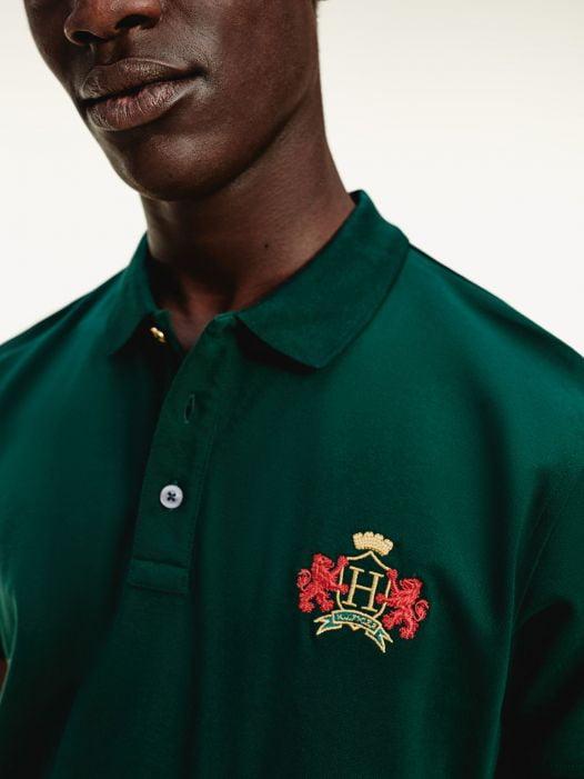 Áo Polo Nam Tommy Hilfiger Icon Regular Fit Crest Polo Hunter