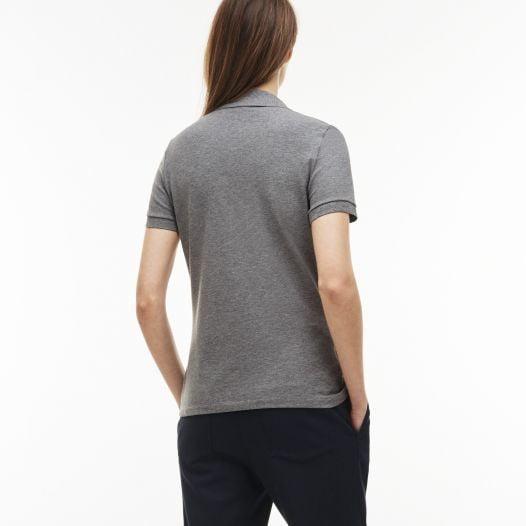Áo Polo Nữ Lacoste Piqué Slim Fit Grey