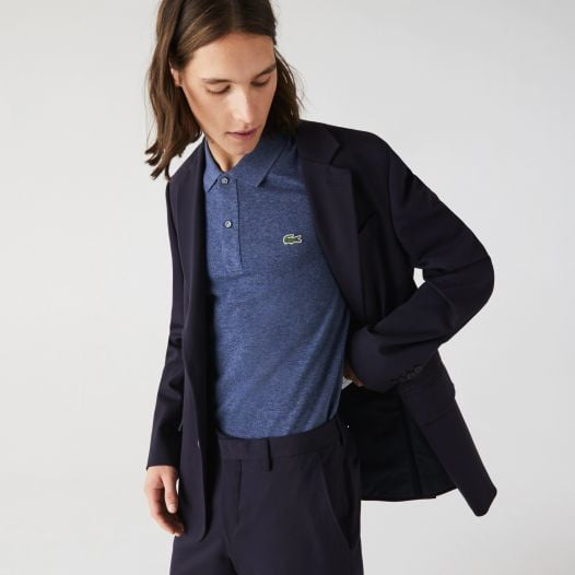 Áo Polo Nam Lacoste Men's Slim Fit Polo in Petit Piqué Blue