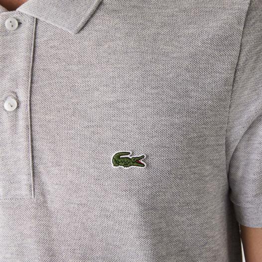 Áo Polo Nam Lacoste Petit Piqué Slim Fit Silver Chine