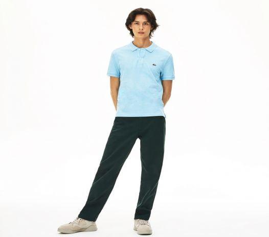 Áo Polo Nam Lacoste Men's Slim Fit Polo in Petit Piqué Blue Chine