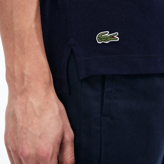 Áo Polo Nam Lacoste Men's Regular Fit LCST Lettering Petit Piqué Polo Navy Blue