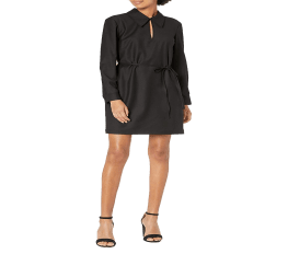 Đầm Nữ Theory Cổ Áo Bảng Lớn Black Sleek Flannel