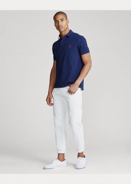 Áo Polo Nam Ralph Lautren The Iconic Mesh Polo Shirt - All Fits Newport Navy Red