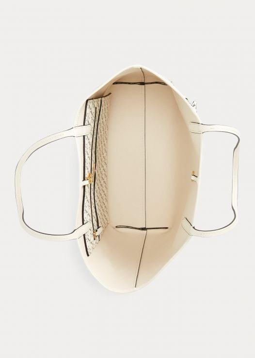 Túi Xách Nữ Ralph Lauren Medium Collins Tote White