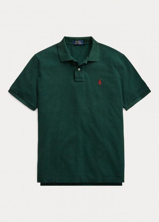 Áo Polo Nam Ralph Lautren The Iconic Mesh Polo Shirt - All Fits College Green Burgundy