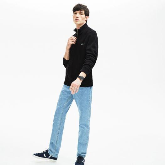 Áo Khoác Nam Lacoste Men's Zip Fleece Sweatshirt Black