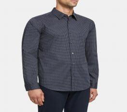 Áo Sơ Mi Nam Theory Irving Shirt in Geo Print Stretch Cotton Tamarind Multi