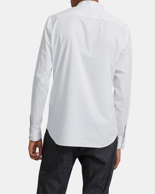 Áo Sơ Mi Nam Theory Irving Shirt in Geo Print Stretch Cotton Seafoam Multi