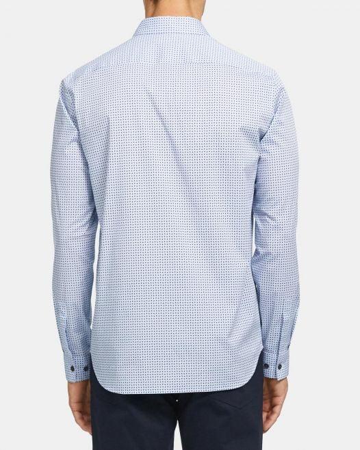 Áo Sơ Mi Nam Theory Irving Shirt in Geo Print Stretch Cotton Olympic Multi
