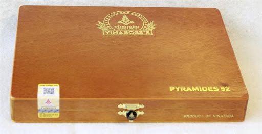 Cigar Vinaboss Pyramides 52 (Hộp gỗ vàng 10 điếu)