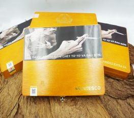 Cigar Vinaboss Montesco (Hộp gỗ vàng 10 điếu)